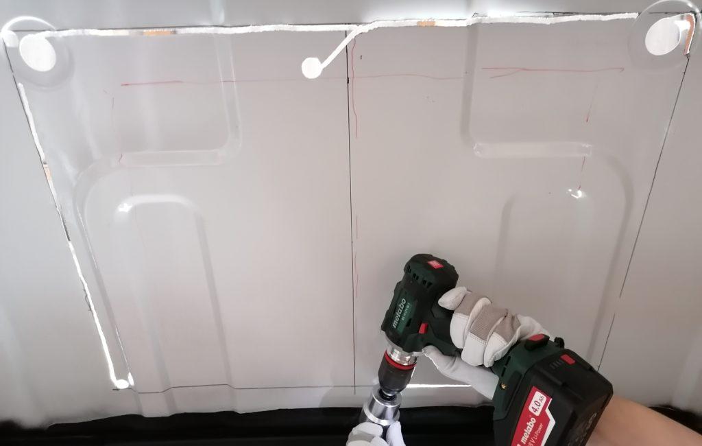MPK Visionstar L pro Dachhaube Dachluke Dachfenster loch sägen blech schneiden