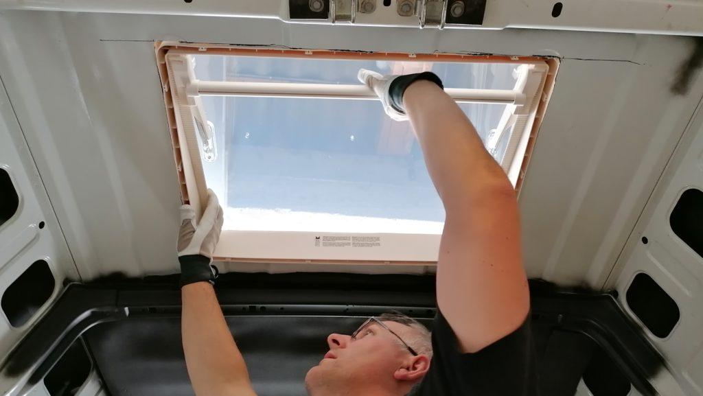 MPK Visionstar L pro Dachhaube Dachluke Dachfenster einsetzen